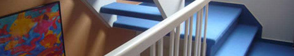 Leistungen › Treppenhäuser  K Ewert Bodenbeläge